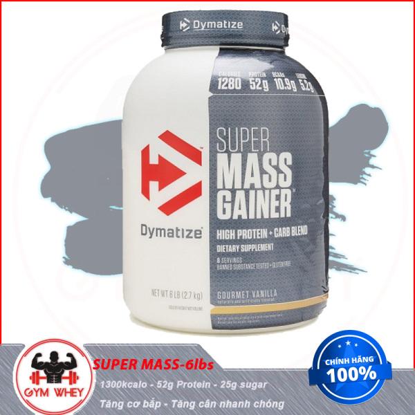 [Lấy mã giảm thêm 30%]TPBS Sữa Tăng Cân Nhanh Dymatize Super Mass 6 Lbs ( 2.7 kg) - Từ Châu Âu