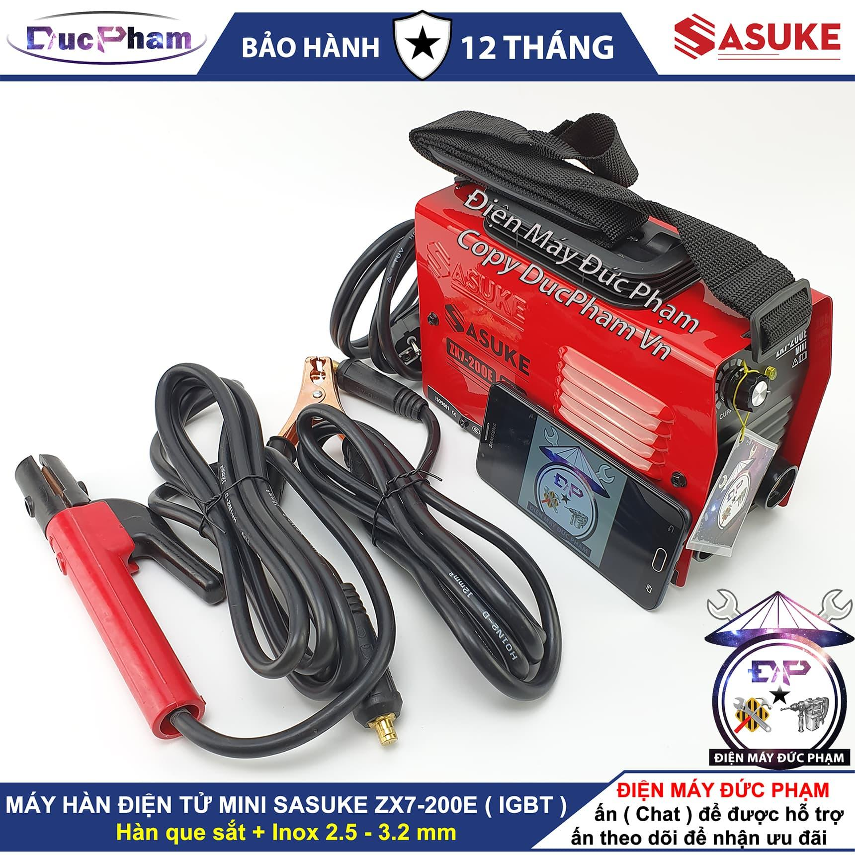 Máy hàn mini Sasuke ZX7-200E - DucPham Vn - Điện Máy Đức Phạm ,máy hàn que 200A , máy hàn điện tử , máy hàn mini gia đình , máy hàn sắt , máy hàn inox