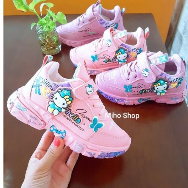 Giá bán [HCM]Giày Thể Thao Kitty Cực Đẹp Cho Bé Gái - Giày Thể Thao Bé Gái