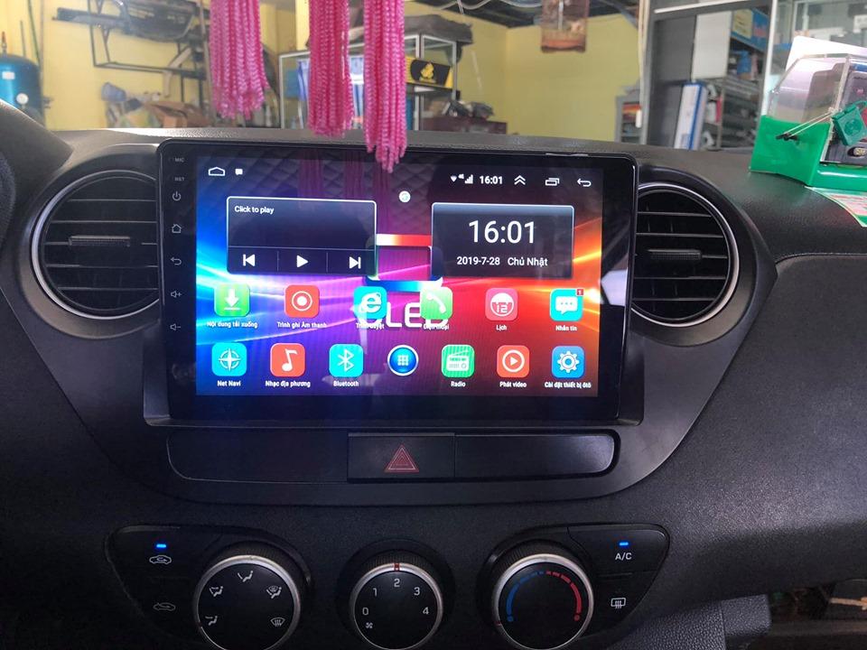 [Hỗ trợ lắp đặt Hà Nội] Bộ Màn hình kết nối wifi Android 10. cho xe I10, tích hợp sẵn bản đồ Navitel, youtube ẩn, Dvd với hệ điều hành android 9.1 , đầu dvd ô tô - Màn hình ô tô android giá rẻ, GPS chỉ đường, camera lùi