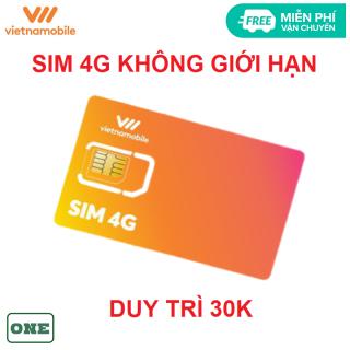 [HCM]Sim 4G vietnamobile không giới hạn data có sẵn tháng đầu miễn phí vận chuyển thumbnail