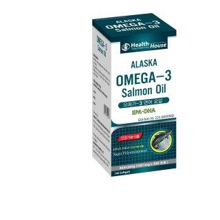 Viên Dầu Cá Alaska Omega 3 Salmon Oil Bổ Não, Sáng Mắt, Khỏe Mạnh Tim Mạch, Tăng Cường Trí Nhớ - Hộp 100 Viên Thành Phần Dầu Cá 1000mg, EPA 180mg, DHA 120mg thumbnail