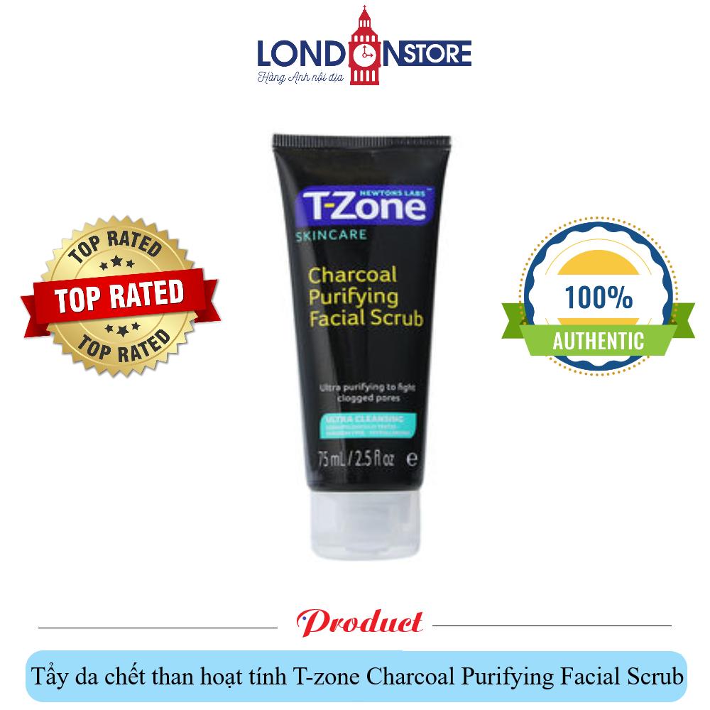 Tẩy da chết T-zone Charcoal Purifying Facial Scrub cao cấp