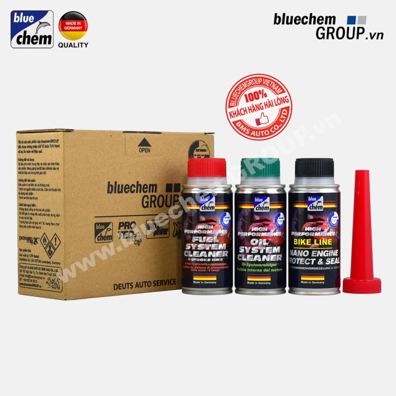 Bộ sản phẩm Làm sạch & Bảo vệ Động cơ Xăng Bluechem 50ml