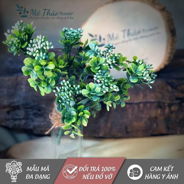 [ẢNH SHOP TỰ CHỤP] Cành Lá Bỏng Giả MT41, Chất Liệu Hoa Lụa Cao Cấp, Dùng Trang Trí Nhà Cửa, Sang Trọng, Bền Đẹp, Dễ Bảo Quản, Tiết Kiệm Chi Phí Trang Trí- Mê Thảo Flower Shop
