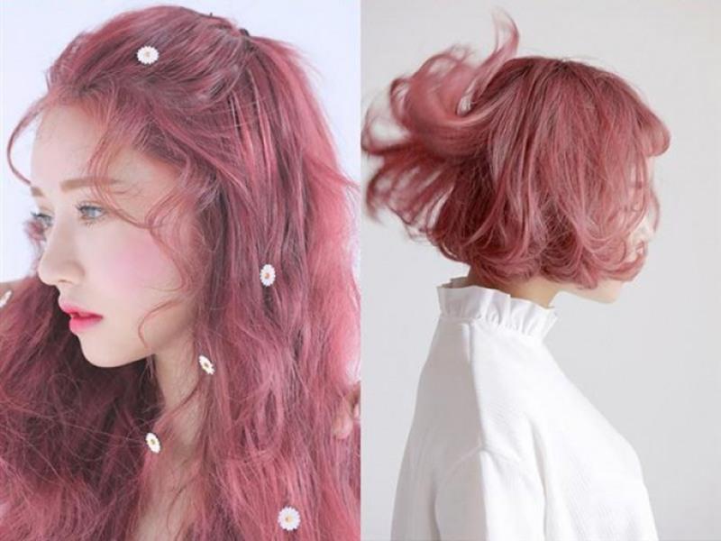 Tự nhuộm tóc màu nâu hồng đào tại nhà, hàng nội địa Việt Nam, không gây hư tổn cho tóc (Trọn bộ tặng gang tay, trợ nhuộm) nhập khẩu