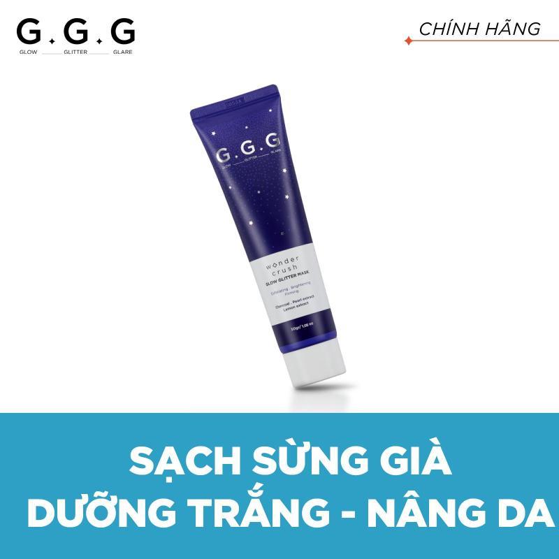 G.G.G Mặt nạ lột lấp lánh Dưỡng Trắng Wonder Crush Glow Glitter Mask 30g nhập khẩu