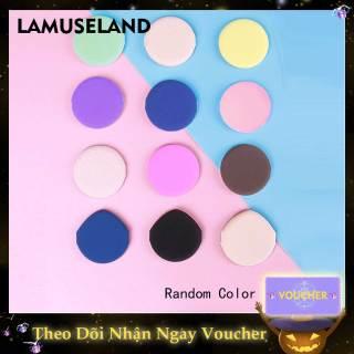 Mút đánh phấn trang điểm LAMUSELAND hình tròn không cao su dùng đánh phấn khô và ướt - INTL thumbnail