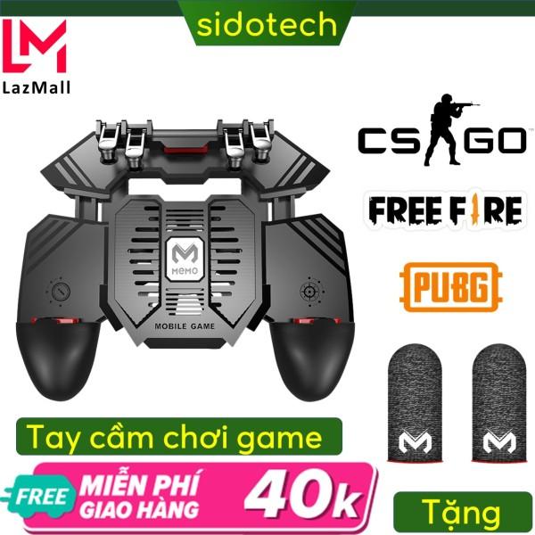 Tay cầm chơi gane điện thoại Sidotech Ak-77s ( 3 phiên bản) có tản nhiệt điện thoại chơi game bắn pubg freefire Ros kết nối 6 ngón linh hoạt thuộc dòng tay cầm chơi game