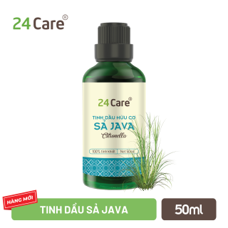 Tinh dầu 24Care chiết xuất nguyên chất 50ml - Giảm căng thẳng, kháng khuẩn, thơm phòng, ngủ ngon thumbnail