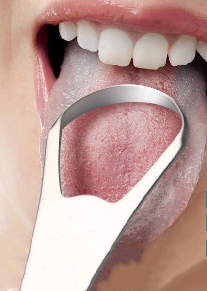 [FREE SHIP] Dụng cụ vệ sinh lưỡi chất liệu inox, an toàn, vệ sinh, phòng chống các bệnh vệ sinh răng miệng, chống hôi miệng