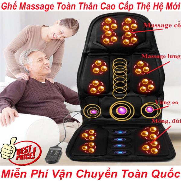 Nệm Massage Toàn Thân - Ghế Massage Toàn Thân Cao Cấp Thệ Hệ Mới Massage Thư Giãn Ngay Tại Nhà - Đệm Massage Xung Điện Toàn Thân Dùng Cho Ghế Văn Phòng Và Trên Oto Có Thể Vừa Làm Việc Vừa Thư Giãn- Bảo hành 1 ĐỔI 1