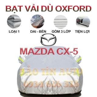 [LOẠI 1] Bạt che kín bảo vệ xe ô tô Mazda CX-5 tráng bạc cao cấp, vải bông chống xước 3 lớp vải dù Oxford , bạt phủ trùm bảo vệ xe ô tô, áo chùm bạc trùm phủ xe oto Bảo Tín Auto thumbnail