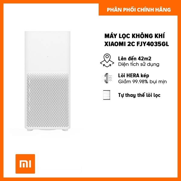 Máy lọc không khí Xiaomi Mi Air Purifier 2C FJY4035GL - Hàng chính hãng Digiworld