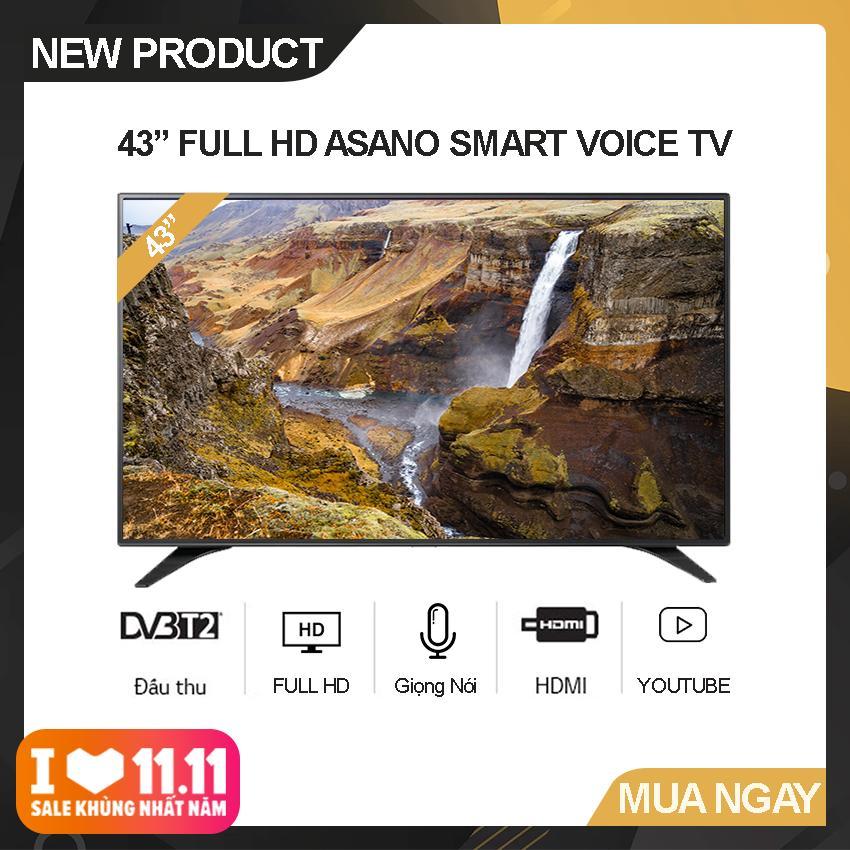 Bảng giá Smart Voice Tivi Asano 43 inch Full HD - Model 43EK7 (Đen) Hệ điều hành Android 7.1, Kết nối Bluetooth, Điều khiển giọng nói, Tích hợp DVB-T2 - Bảo Hành 2 Năm
