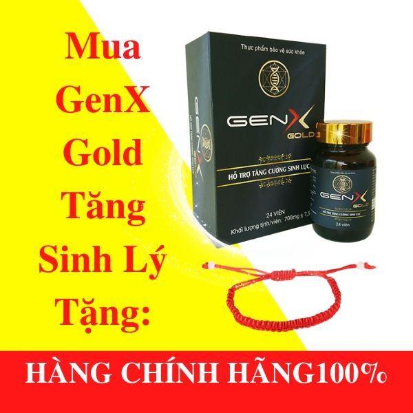 [COMBO 2 LỌ] GEN X GOLD Viên uống tăng cường sinh lý nam - 2 lọ x 24 viên - tặng vòng tay chỉ đỏ