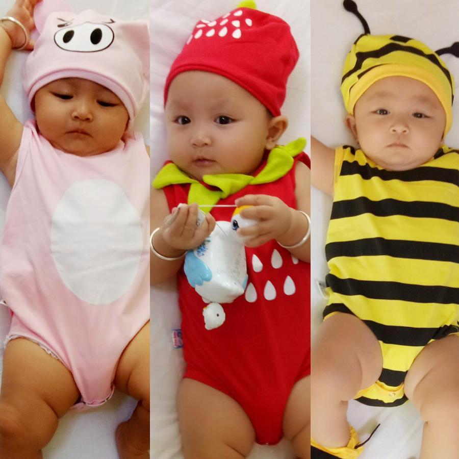 Combo 3 bộ Bodysuit hình thú ngộ nghĩnh cho bé ( khách được chọn bé trai hay gái, shop giao mẫu ngẫu nhiên) - Mihababy - BDS_CB_SHOCK