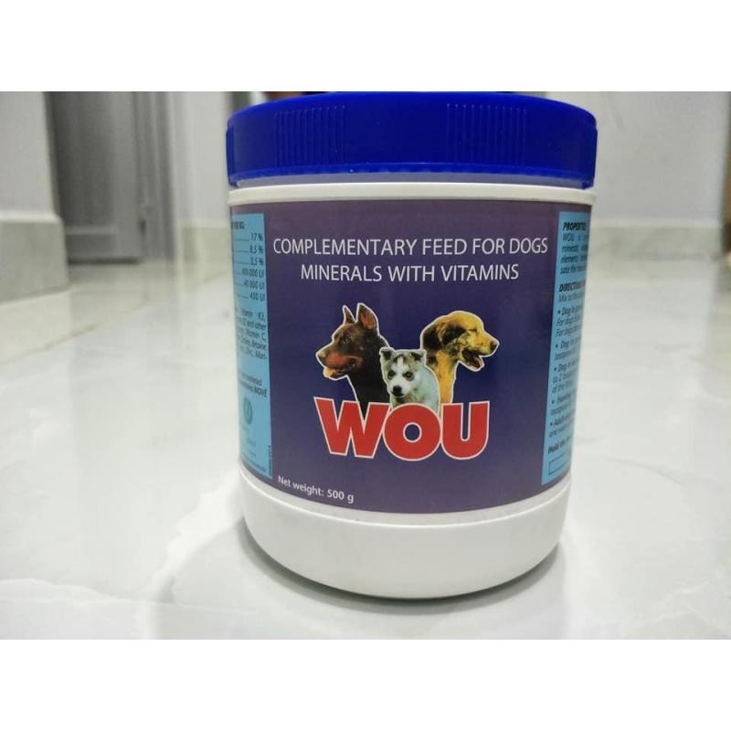 Bột khoáng dinh dưỡng dành cho chó WOU Pháp 500g