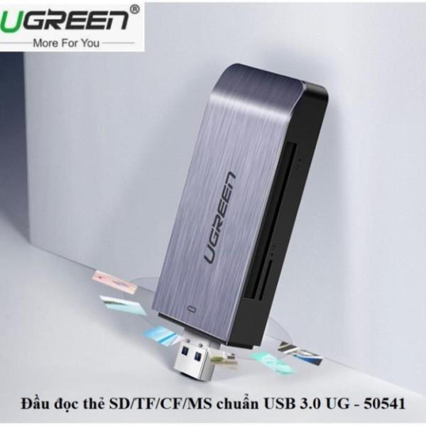 Bảng giá Đầu đọc thẻ USB 3.0 hỗ trợ SD/TF/CF/MS Ugreen 50541 cao cấp Phong Vũ
