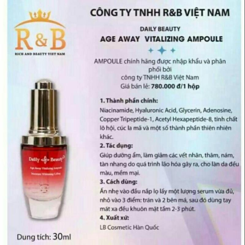 [Chính hãng]-SERUM Daily Beauty Age Away Vitalizing  , chống lão hóa, 30ML giá rẻ