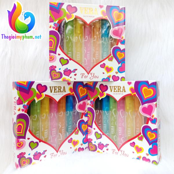 Bộ Nước Hoa 7 màu Vera for You 70ml (10ml x 7 chai) nhập khẩu