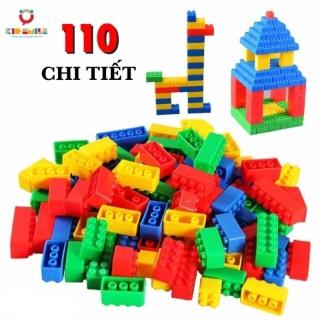 Đồ chơi trẻ em túi 110 xếp hình lego nhựa nguyên sinh an toàn nhiều màu sắc giúp trẻ từ 3 tuổi trở lên phát triển trí tưởng tượng và tư duy sáng tạo thumbnail