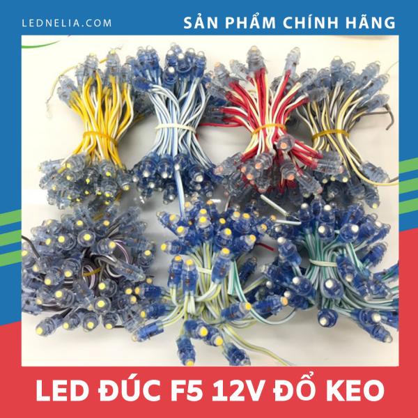 LED đúc F5 đế 9mm,chống nước điện áp 12V,trang trí nhà,cuốn cây.