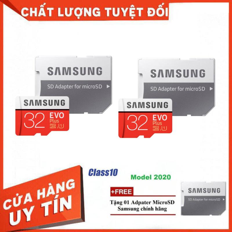 Bộ 2 Sản Phẩm Thẻ Nhớ MicroSDXC Samsung EVO Plus U1 32GB 100MB/s MB-MC64H 2020 - Bảo Hành 5 Năm