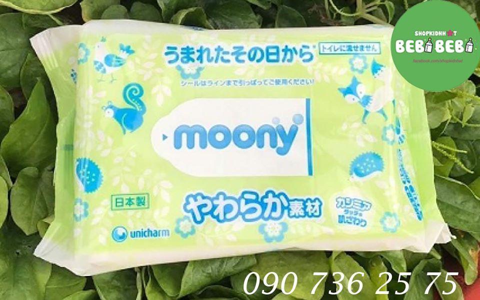 Khăn Giấy ướt Moony Nhật Bản Mẫu Mới (80 Miếng) Giá Hot Siêu Giảm tại Lazada