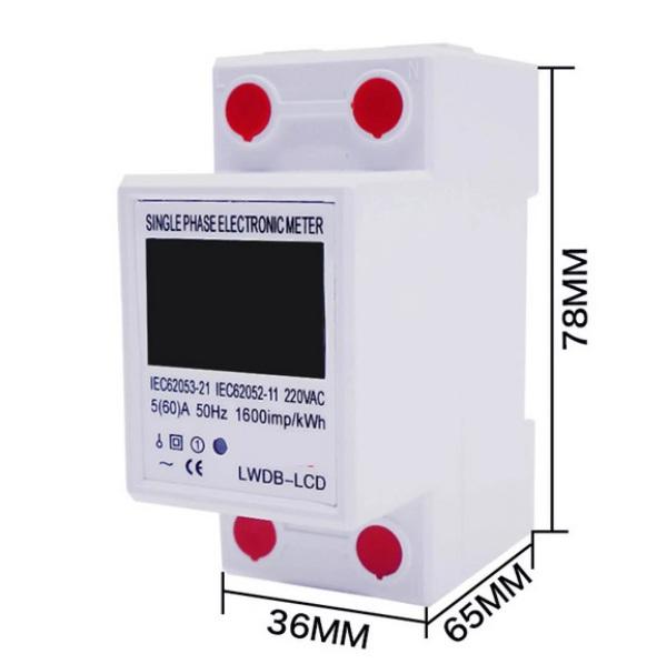Bảng giá Công tơ điện tử 1 pha 60A Nakasi  có RESET - Đồng hồ đo công suất Kwh hiển thị nhiều thông số