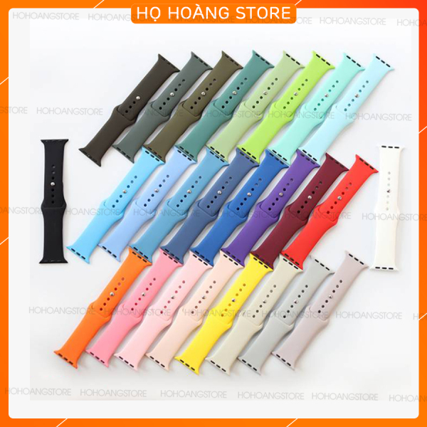 DÂY ĐỒNG HỒ CAO SU APPLE WATCH SPORT BANDS CAO CẤP FULL SIZE 1 2 3 4 5 38mm 40mm 42mm 44mm