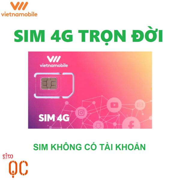 [HCM]Sim 4G trọn đời 180GB vietnamobile không có tài khoản