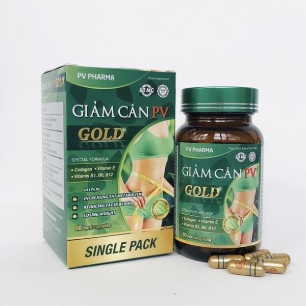Chính hãng  Giảm cân PV Gold Không gây tác dụng phụ, không mệt mỏi, không sạm da, nhăn da. Không cần nhịn ăn. nhập khẩu