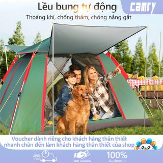 Lều cắm trại lều dã ngoại tự động cho 3-4 người hai lớp vải chống tia UV chống thấm lều picnic gia đình camry thumbnail