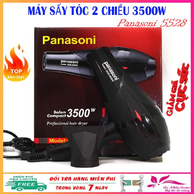 Máy sấy tóc công suất lớn Panasoni 5528, may say toc 2 chiều công suất 3500W có ánh sáng xanh kháng khuẩn - Bảo hành 1 năm