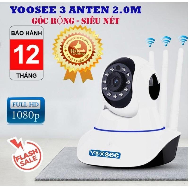 (SALE 50%,Bảo hành 12 Tháng)Camera WIFI YOOSEE 3 Râu HD siêu nét tích hợp cảm biến hồng ngoại,ghi âm,đàm thoại 2 chiều, lưu trữ video