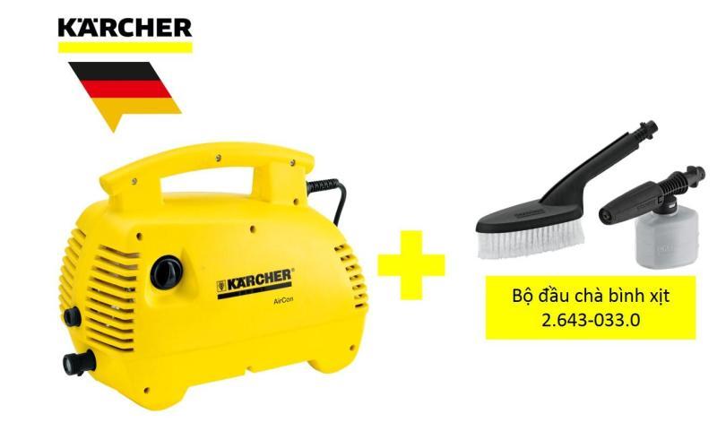 COMBO Máy phun rửa áp lực cao Karcher K 2.420 Air Con và bộ đầu chà bình xịt