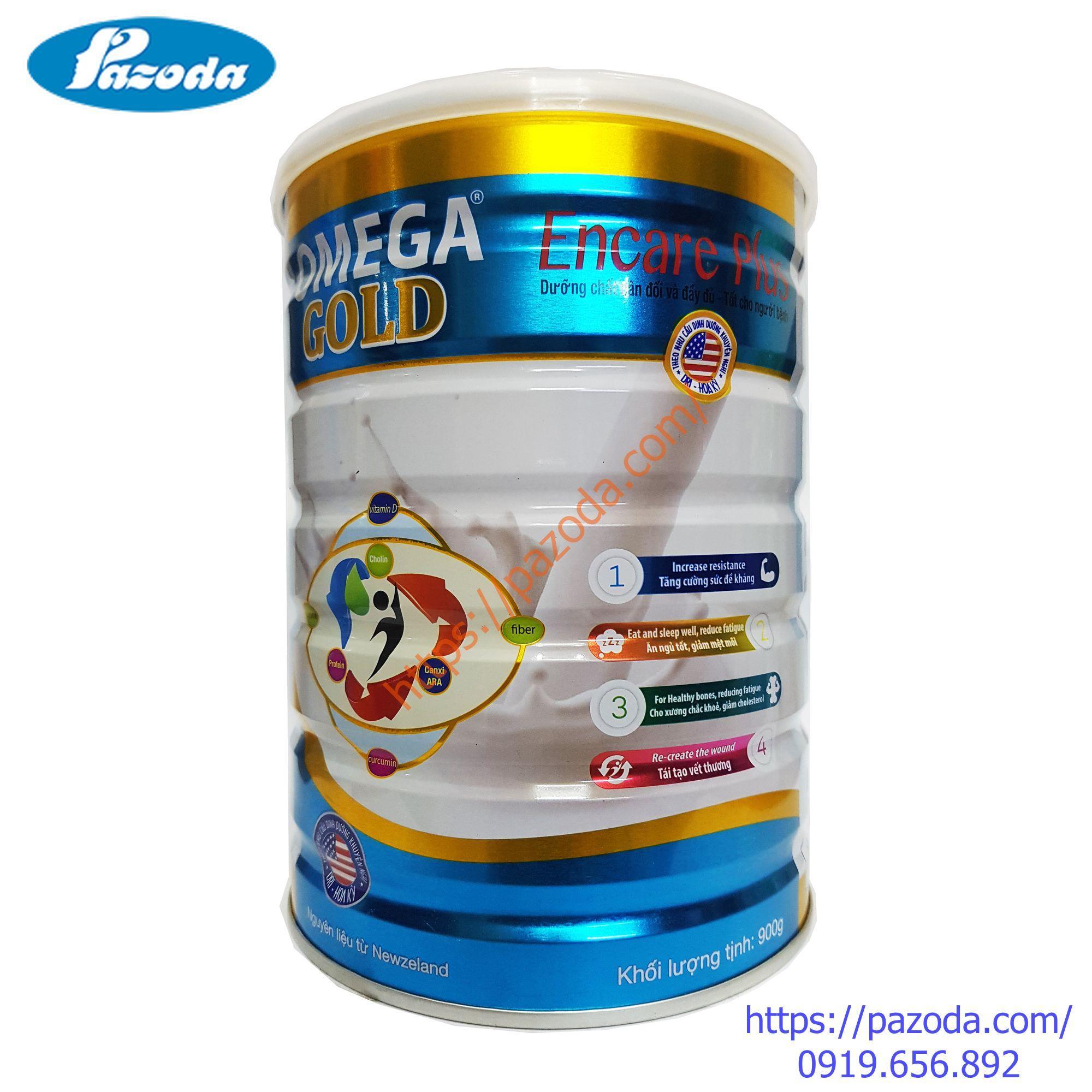 Sữa bột OMEGA GOLD Encare Plus 900g cho người bệnh cần phục hồi