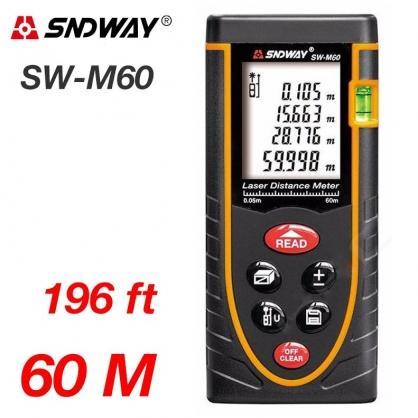 Máy đo khoảng cách laser 60m SNDWAY SW-M60