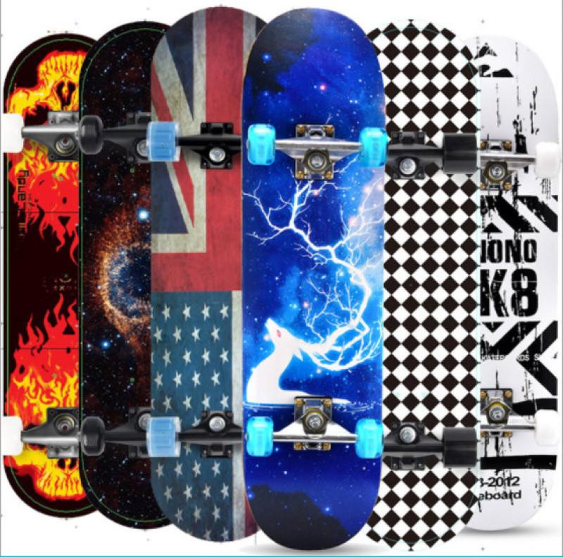 Ván trượt thể thao skateboard người lớn 80 cm mặt nhám gỗ phong ép 8 lớp I Bảo hành đổi trả trong 7 ngày