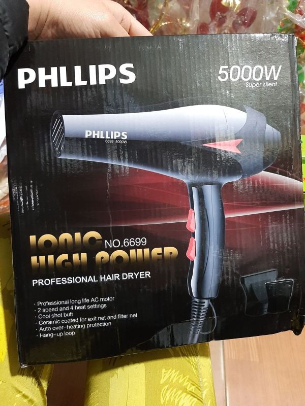 Máy Sấy Tóc PhiLips 5000W- Gió Mạnh, Kêu Êm giá rẻ