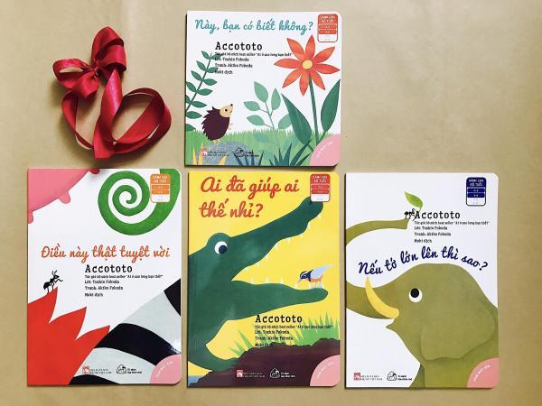 Mua Combo Ehon Accototo 4 quyển: Điều này thật tuyệt vời, Nếu tớ lớn lên thì sao? Ai đã giúp ai thế nhỉ? Này, bạn có biết không?