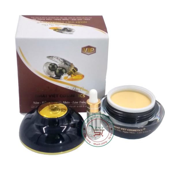 Kem nám - Đồi mồi - Ngừa nhăn - Làm trắng da Ngọc trai đen - Sữa ong chúa Nhật Việt 30g (Trắng - Nâu) giá rẻ