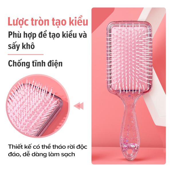 Lược chải tóc hình vuông Miniso lông mềm mịn gỡ rối tóc dễ dàng Brush nhập khẩu