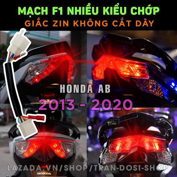 Bộ mạch sẵn giắc zin tạo chớp stop F1 nhiều kiểu nháy cho Honda Air Blade - AB