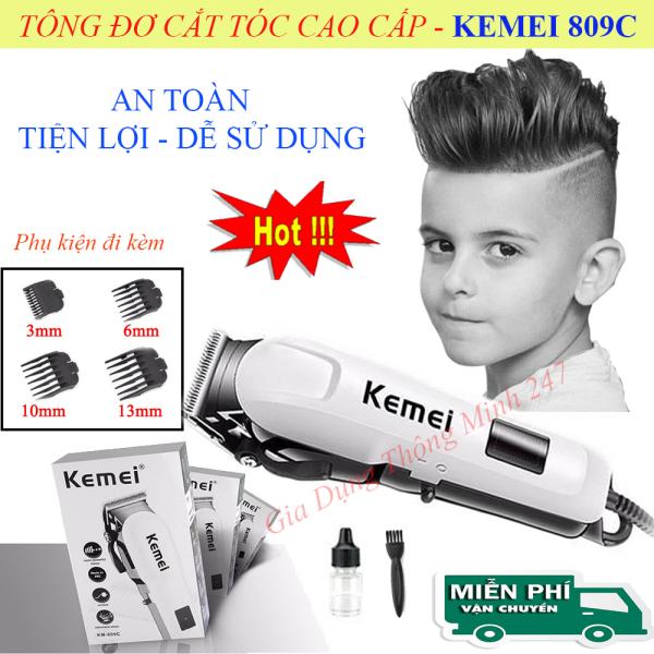 Tông Đơ Cắt Tóc Cho Bé, Tông Đơ Cắt Tóc Chuyên Nghiệp, Tăng Đơ Cắt Tóc.Tông đơ cắt tóc Kemei KM-809C tay cầm chống trượt, lưỡi cắt sắc bén chống gỉ, thiết kế với lưỡi cắt và lược an toàn khi dùng. Bảo hành 1 đổi 1. nhập khẩu