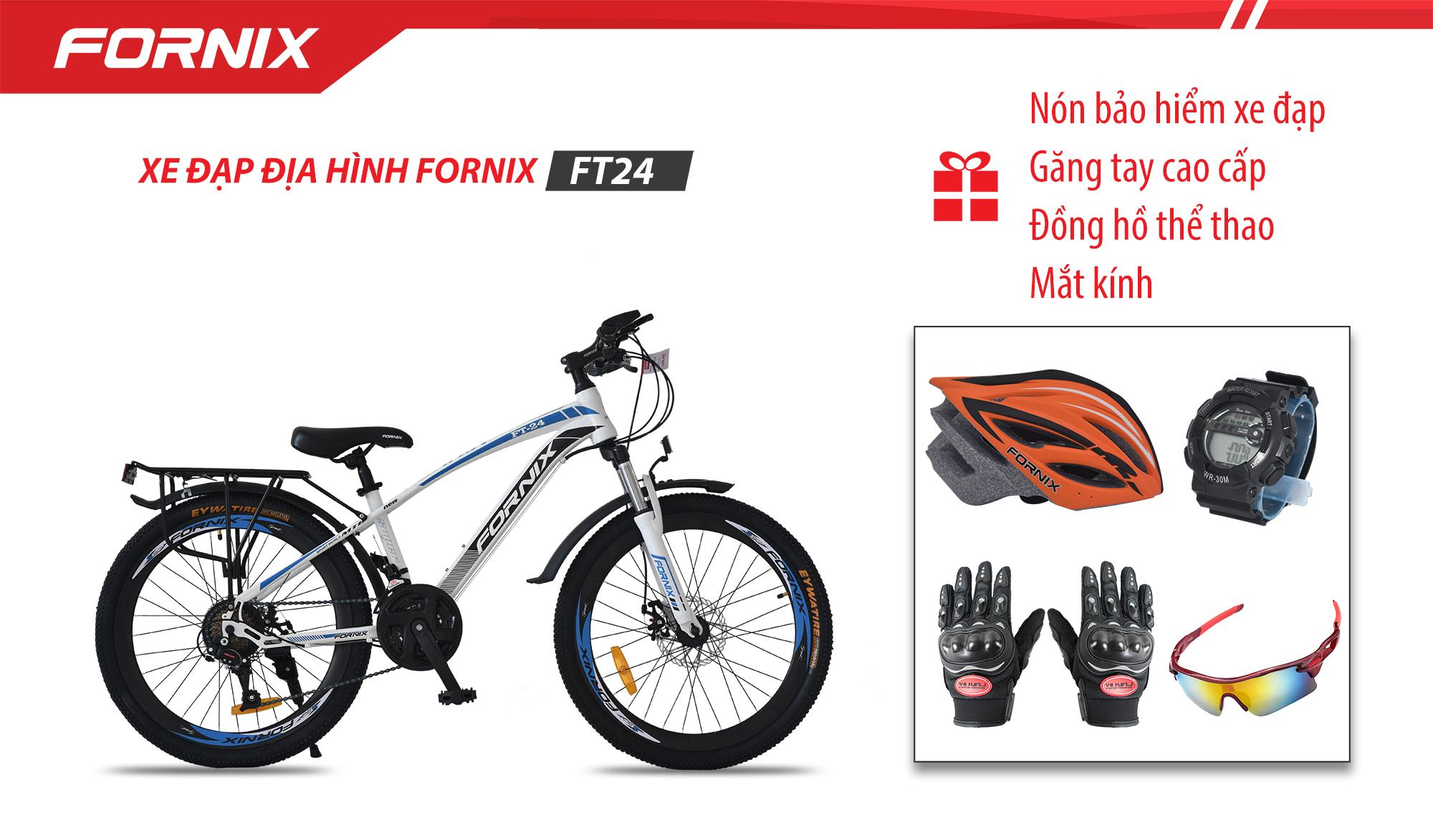 XE ĐẠP ĐỊA HÌNH FORNIX FT24+ (Gift) Mắt kính, Nón Bảo Hiểm A01NM1L