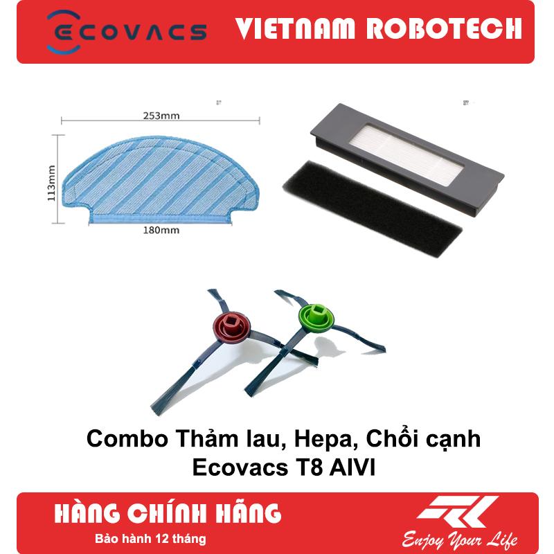 Combo chổi, thảm, màng lọc Hepa cho robot hút bụi T8 AIVI