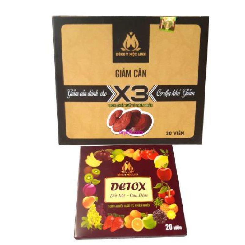 Giảm Cân Đông Y Mộc Linh X3 (Tặng 20 viên tan mỡ detox)