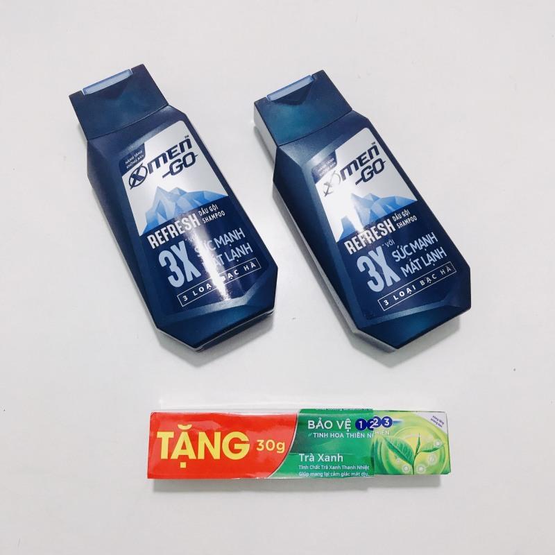 MUA 2 CHAI DẦU GỘI XMEN GO REFRESH 150g/chai - Tặng 1 cây tuýp kem đánh răng ps 30g